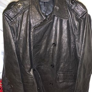 Men's Theory Black Leather Jacket New with Tag